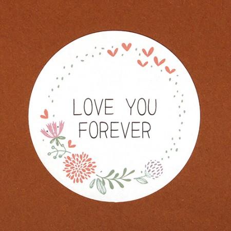 스티커 (LOVE YOU FOREVER 원형/ 12개입)